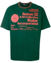 Kolor プリント Tシャツ - グリーン