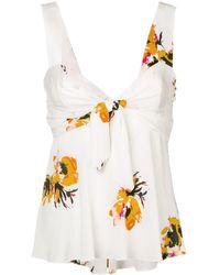 A.L.C. Florales Camisole-Top - Weiß
