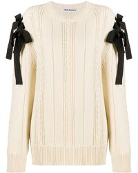Molly Goddard Bow Fastened Knitted Sweater - Multicolor