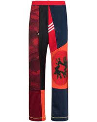BETHANY WILLIAMS X The Magpie Project Panelled Track Trousers - Red