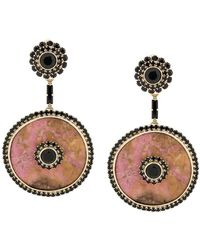 Etro Embellished Drop Earrings - Metallic