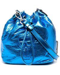 Karl Lagerfeld Сумка-ведро K/ikonik С Эффектом Металлик - Синий