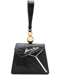 Moschino Coconut Slice Snakeskin-effect Handbag - Black