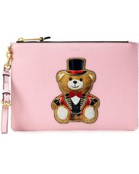 Moschino Toy Bear Clutch - Pink