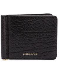 Ugo Cacciatori フラップ財布 - ブラック