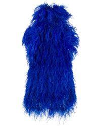 The Attico Mini-jurk Met Veren - Blauw