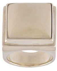 Henson Horn Square Ring - Metallic