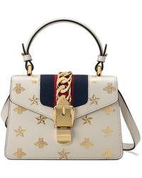 Gucci Мини-сумка 'sylvie Bee Star' - Белый