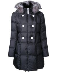 Loveless Manteau matelassé à capuche - Noir
