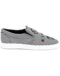 Mira Mikati - Checked Patched Slip On Sneakers - Lyst