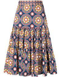 LaDoubleJ Patterned Skirt - Blue