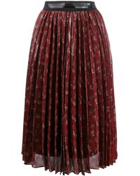 COACH Pleated Midi-skirt - Red