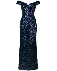 Lauren by Ralph Lauren - Off-the-shoulder Shimmer Gown - Lyst