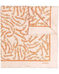 Nanushka Шарф С Логотипом - Оранжевый