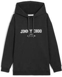 Jimmy Choo Hoodie mit Logo - Schwarz