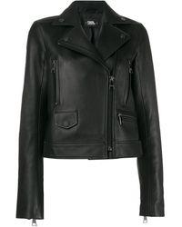 Karl Lagerfeld Ikonik ライダースジャケット - ブラック