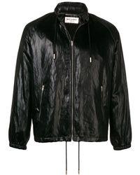 Saint Laurent Куртка С Потайной Застежкой И Капюшоном - Черный