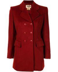 Hermès Blazer doppiopetto Pre-owned - Rosso