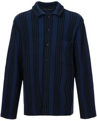 Haider Ackermann Striped Long-sleeve Shirt - Blauw