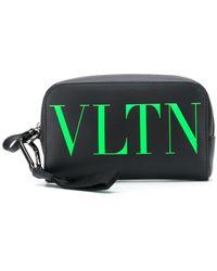 Valentino Garavani Vltn-print Wash Bag - Black