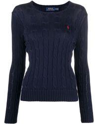 Polo Ralph Lauren Джемпер Фактурной Вязки С Вышитым Логотипом - Синий