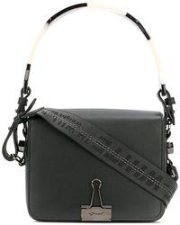89eadece4fb9 Lyst - Off-White C O Virgil Abloh Bulldog Clip Detail Handbag in White