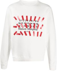 Maison Margiela プリント ロゴ スウェットシャツ - ホワイト