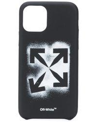 Off-White c/o Virgil Abloh Funda Stencil Arrows para iPhone 11 Pro - Negro