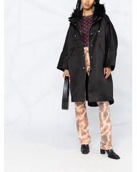 DIESEL Button-down Parka Coat - Black