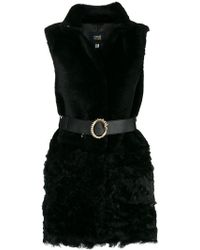 Class Roberto Cavalli - Belted Fur Gilet - Lyst