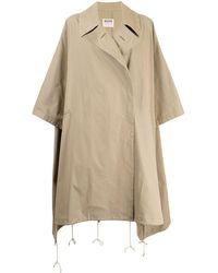 Yohji Yamamoto Oversized Trench Coat - Brown