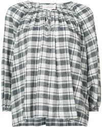 The Great - Dreamer Checked Blouse - Lyst