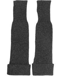 Ganni Длинные Перчатки-митенки - Серый