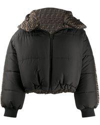 Fendi Reversible Padded Puffer Coat - Black