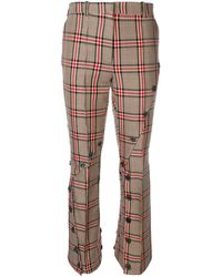 ROKH Checked Button Trousers - Bruin