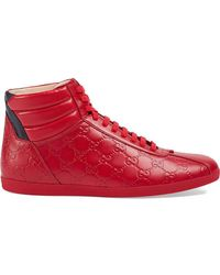 Gucci - Signature High-top Sneakers - Lyst
