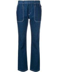 Chloé Contrast Stitch Jeans - Blue