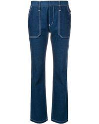 Chloé Contrast Stitched Jeans - Blauw