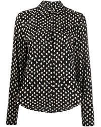 Essentiel Antwerp Shirt Met Stippen - Zwart