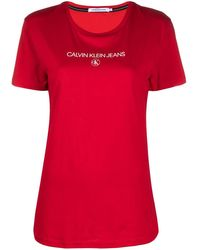Calvin Klein Футболка С Логотипом - Красный