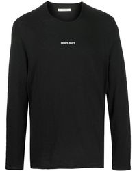 Zadig & Voltaire Slogan Print Long-sleeved Top - Black