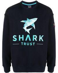 Paul & Shark Felpa con stampa - Blu