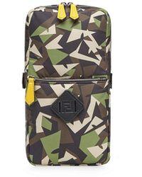 Fendi Zaino con stampa Bag Bugs camouflage - Marrone