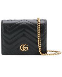 Gucci Кошелек GG Marmont На Цепочке - Черный
