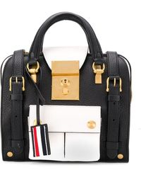 Thom Browne Mini Rwb-detail Mrs. Thom Backpack - Black