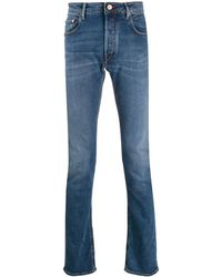 Hand Picked - Mid-rise Slim-fit Jeans - Lyst
