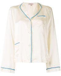 Morgan Lane Mimi Pyjama Shirt - Yellow