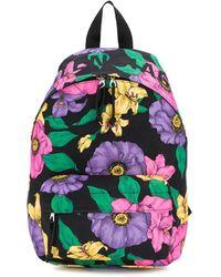 Balenciaga Small Wheel Lush Floral Backpack - Black
