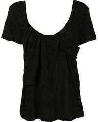 Unravel Project スクープネック Tシャツ - ブラック