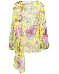 Prabal Gurung - Floral Long-sleeve Blouse - Lyst